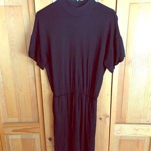 & Other Stories black midi dress size s